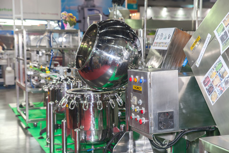 BANGKOK ,THAILAND - FEBRUARY 7: Mixing drugs equipment  at  THAILAND Industrial Fair 2015 And Food Pack Asia 2015 on  February 7, 2015 in Bangkok, Thailand.