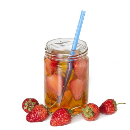 refreshment: Infused water  ,refreshment for health. Stock Photo