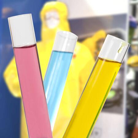 liquids: Colored liquids in test tubes isolated