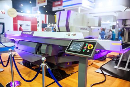 toolroom: BANGKOK ,THAILAND - MAY 16: CNC Controller machines display  at Intermach-Subcon Thailand 2015, on MAY 16, 2015 in  Bangkok, Thailand.