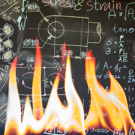photoelectric: Fire out a old theory Stock Photo