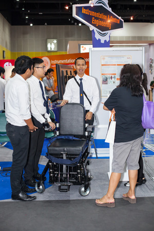 mobility nursing: BANGKOK ,THAILAND - JULY 18:Electric chair and change to bed   in Engineering Expo 2015 , on JULY 18, 2015 in Bangkok, Thailand.