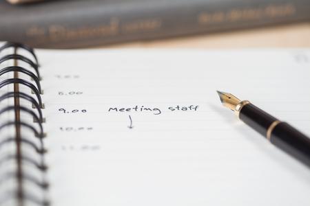 plotting: meeting calendar
