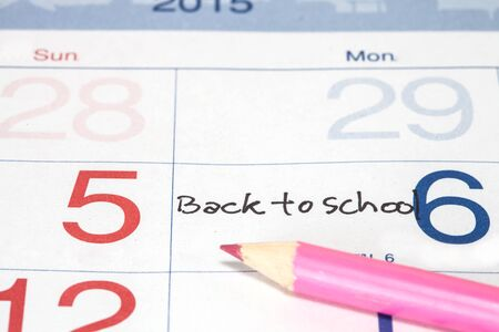 calendario escolar: Reminder on Back to School  Appointment on calendar
