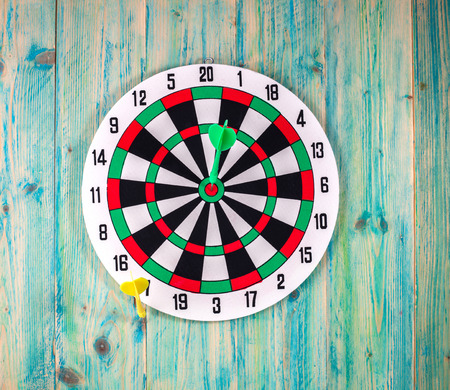 sectors: Darts Board with Twenty Black and White Sectors