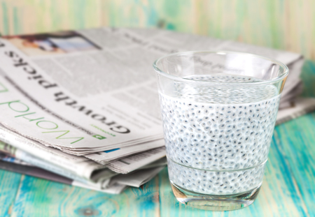 news paper: Chia Seed and news paper