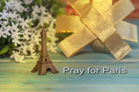 Eiffel Tower: Eiffel Tower Toy .Paris Icon , peace, hope Stock Photo