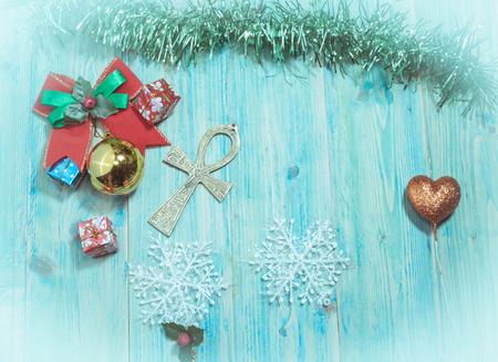 tone: Christmas background ,vintage tone