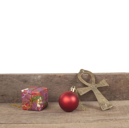 wall decor: Christmas , decor in front of wooden wall