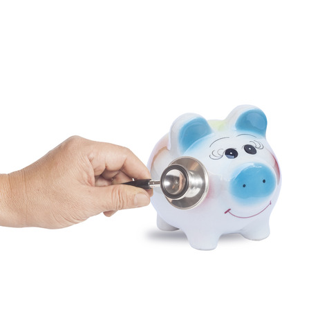 Check up your money seving Stock Photo
