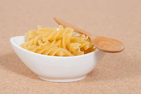 rotini: spiral raw macaroni pasta