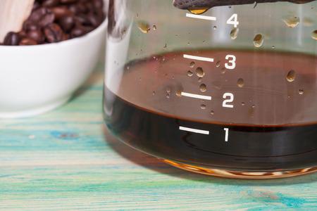 クローズ アップ コーヒー ポット 写真素材