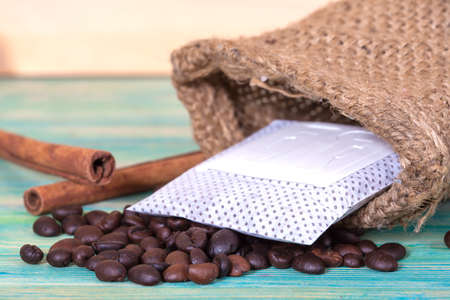 mocca: coffee drip package Stock Photo