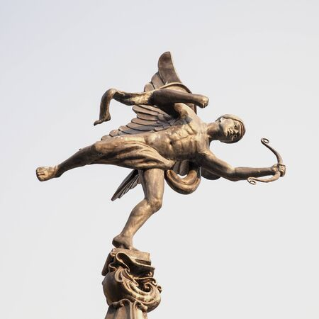 familiar: The familiar statue of Eros in Piccadilly park,  Thailand.