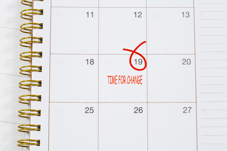 better days: Time for Change text on calendar Stock Photo