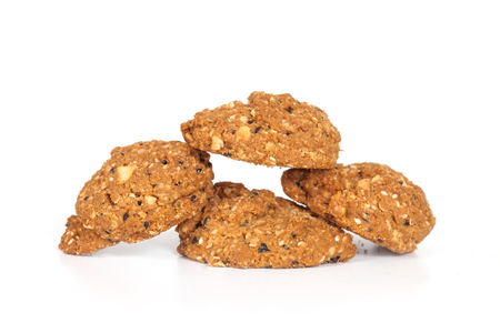 savory: Homemade with whole grain cookies , isloated on white
