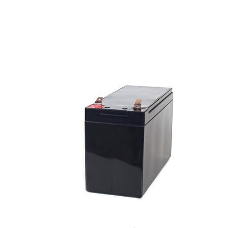 electrolyte: Sealed  battery isolated on white background