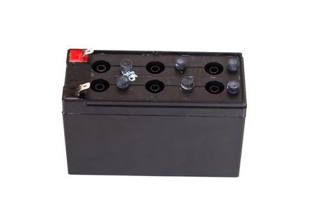electrolyte: Open Sealed  battery isolated on white background