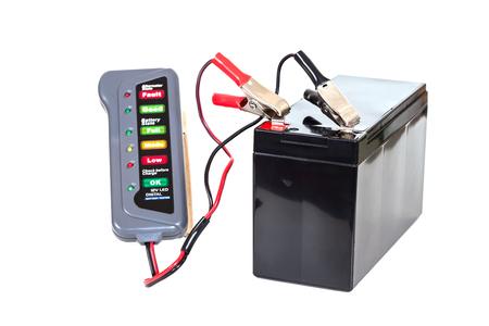 regulated: Sealed  battery isolated on white background