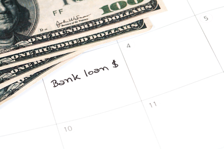 debt collection: Reminder bank loan in calendar