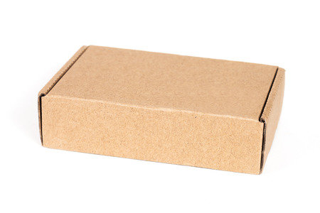 stockpiling: cardboard box , isolated on a white background.