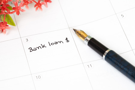monthly salary: Reminder bank loan in calendar
