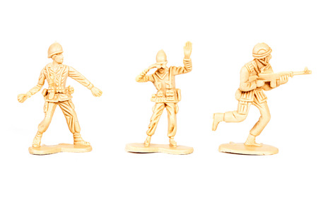 recon: miniature  soldiers toy  on white background