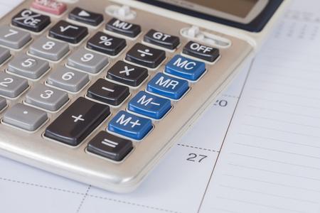 calculate: calculate on calendar book