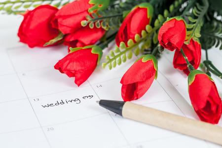Reminder Wedding day in calendar