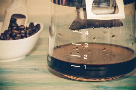 wakening: drip coffee in to Coffee pot