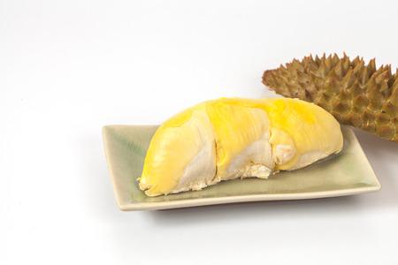 freshness durian fruit on white background Stock Photo