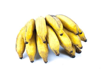 banana skin: fresh banana on white background