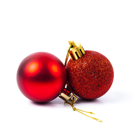 Small Red Christmas Ball On White Background . Stock Photo, Picture ...