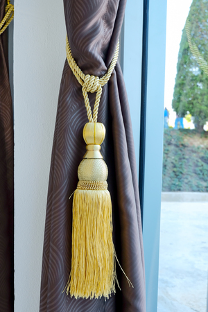 Colorful Curtains tassel for interior house.