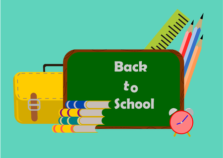 Creative Back to school set .Illustration vector. Illustration