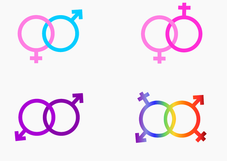 Lgbt pride sing and symbol.Illustration vector.