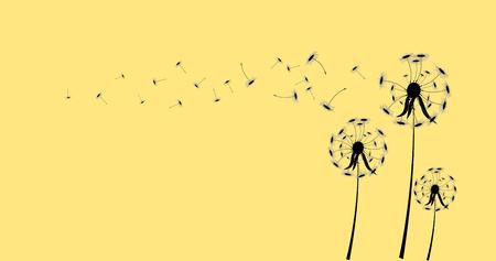 pissenlit sur un vent perd l'intégrité, illustrateur vectoriel.