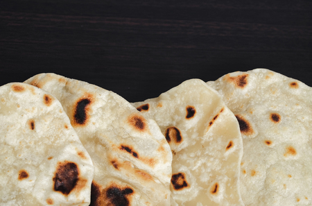 Indian Traditional Cuisine Chapati home made for diet food.