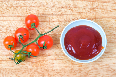 Tomato sauce with fresh Small Tomato ,food for health concept. 写真素材