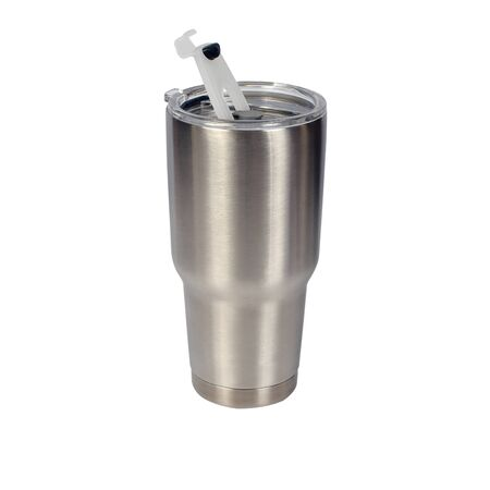 Cold water bottle on a white background