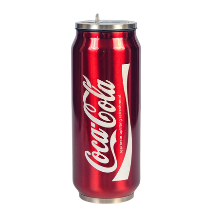 CHIANG RAI,THAILAND - JUNE 21 , 2019 :Coca cola ice cooler can famous carbonated soft drink on white backround