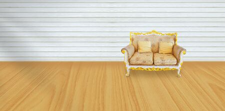 vintage chair in living room background. Stock Photo