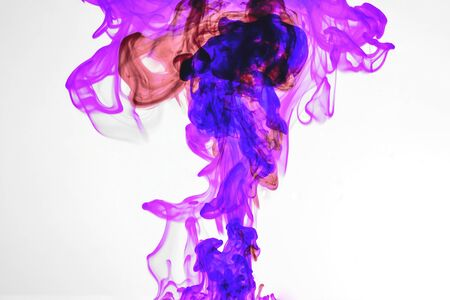 The colorful ink in the water. Abstract. background. Wallpaper. Concept art.