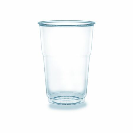 Glass of cup glassware equipment for food concept.