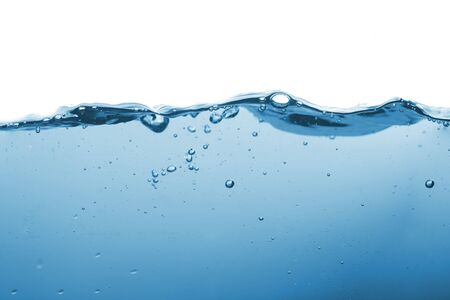 Water splash or water wave with bubbles of air on the background.