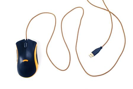Gaming mouse tool. Close up, isolated.