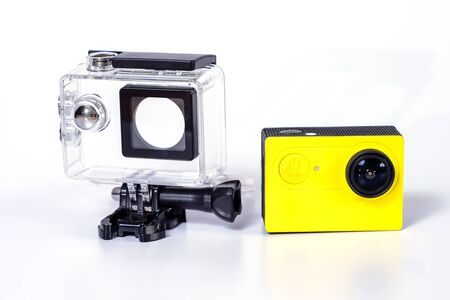 Action camera with housing case ,Protection Camera On the sea.