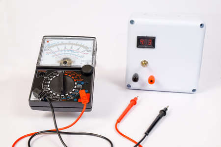 Analog voltmeter is combines several measurement functions in one unit.