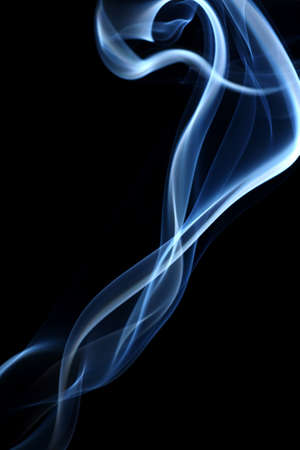 abstract smoke in  black