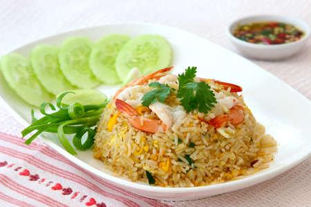 fried rice with chimp Фото со стока